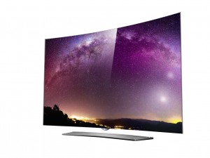LG's 4K OLED curved TV press picture courtesy of LG America