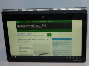 Lenovo Yoga 3 Pro convertible notebook - Tent mode