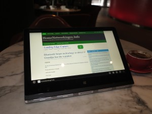 Lenovo Yoga 3 Pro convertible notebook at Rydges Hotel Melbourne - Viewer mode