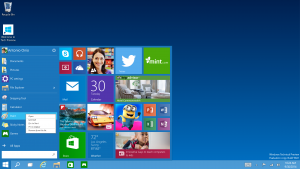 Windows 10 Start Menu courtesy of Microsoft