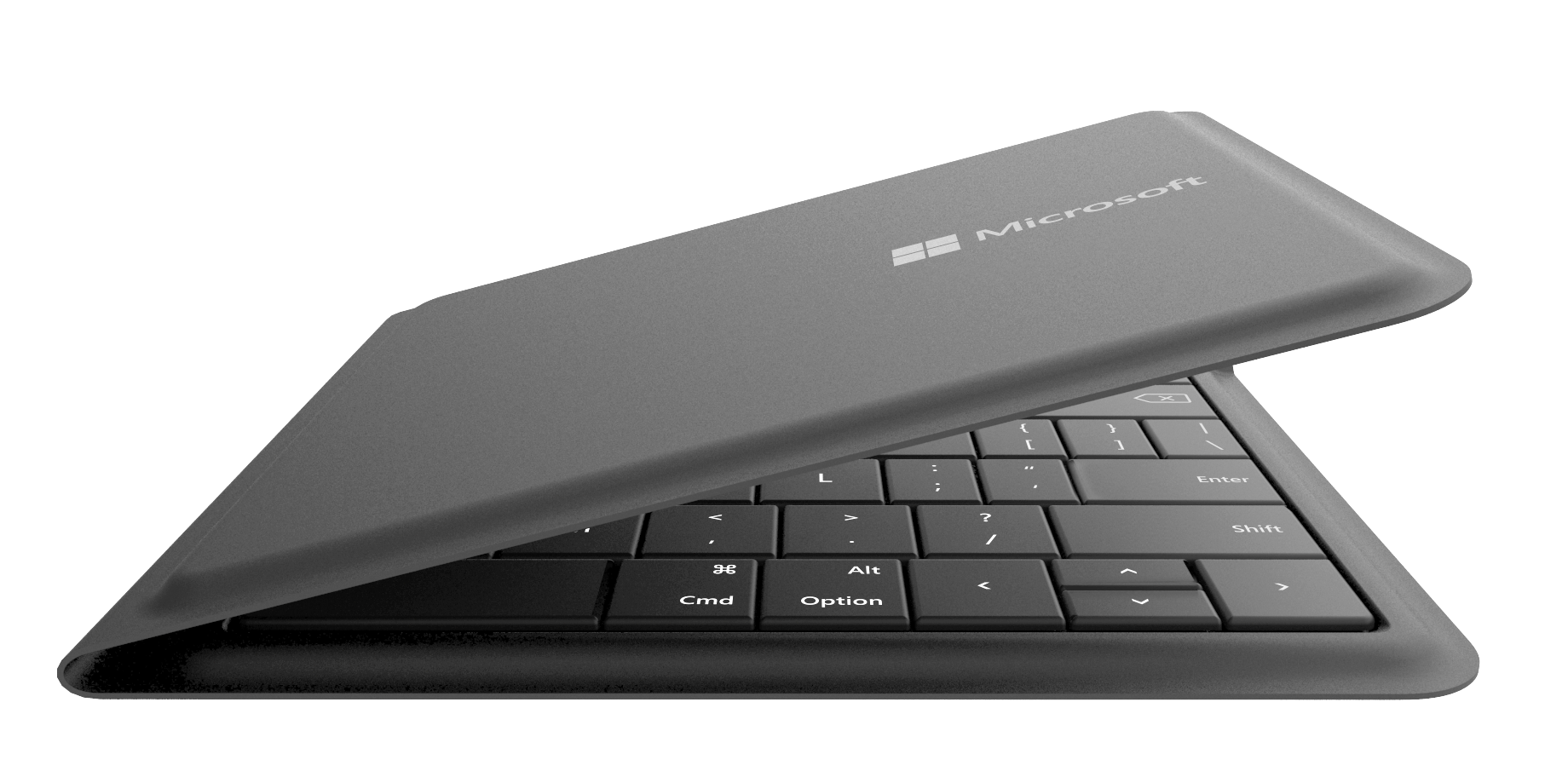 Microsoft Universal Foldable Keyboard (side) - press picture courtesy of Microsoft