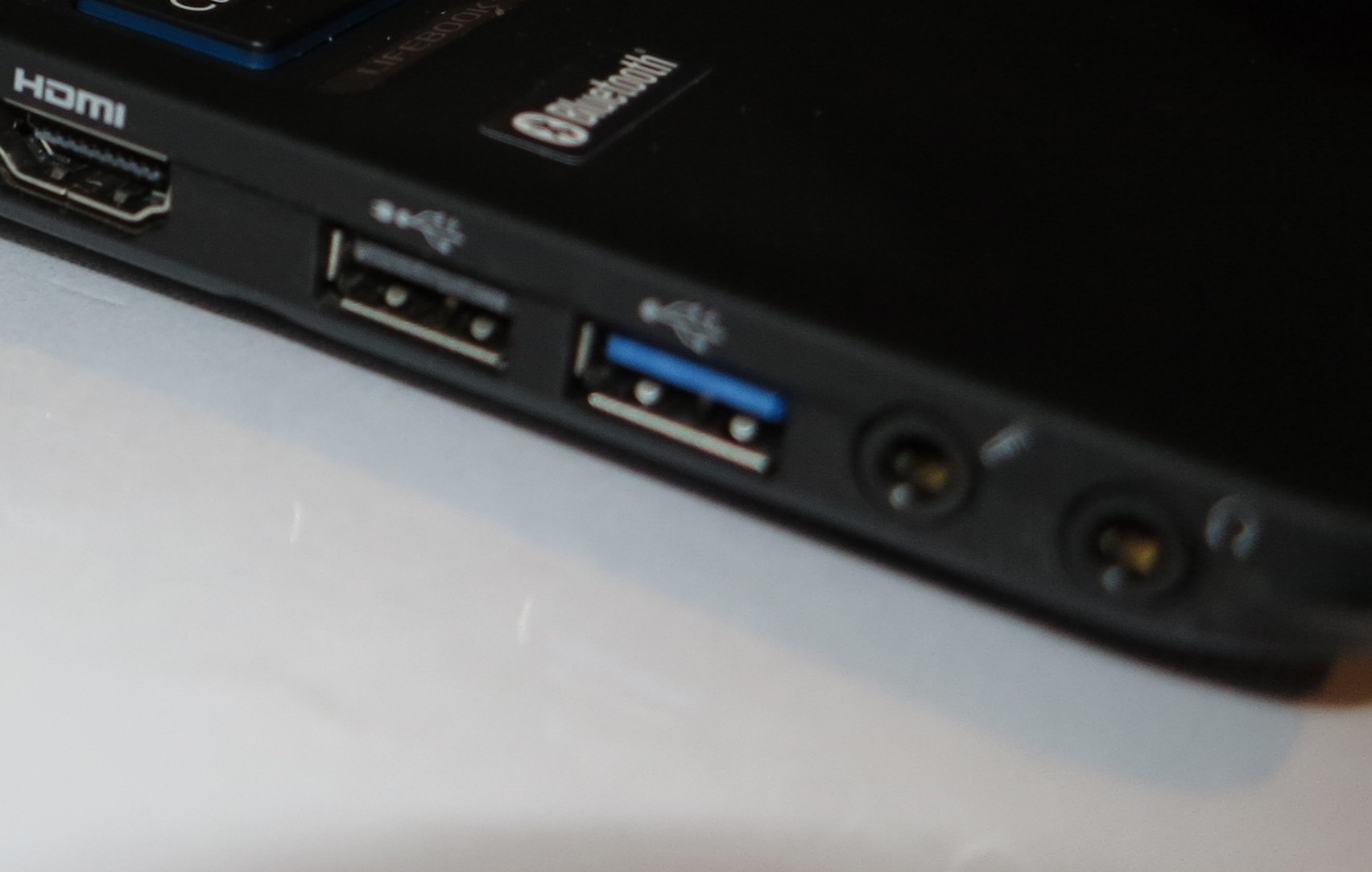 USB sockets on a laptop