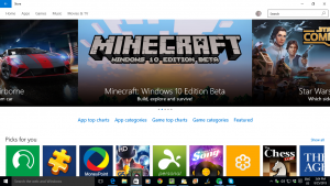 Windows 10's own app store