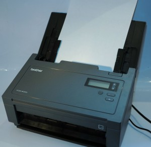 Brother PDS-6000 high-speed document scanner - loaded deck