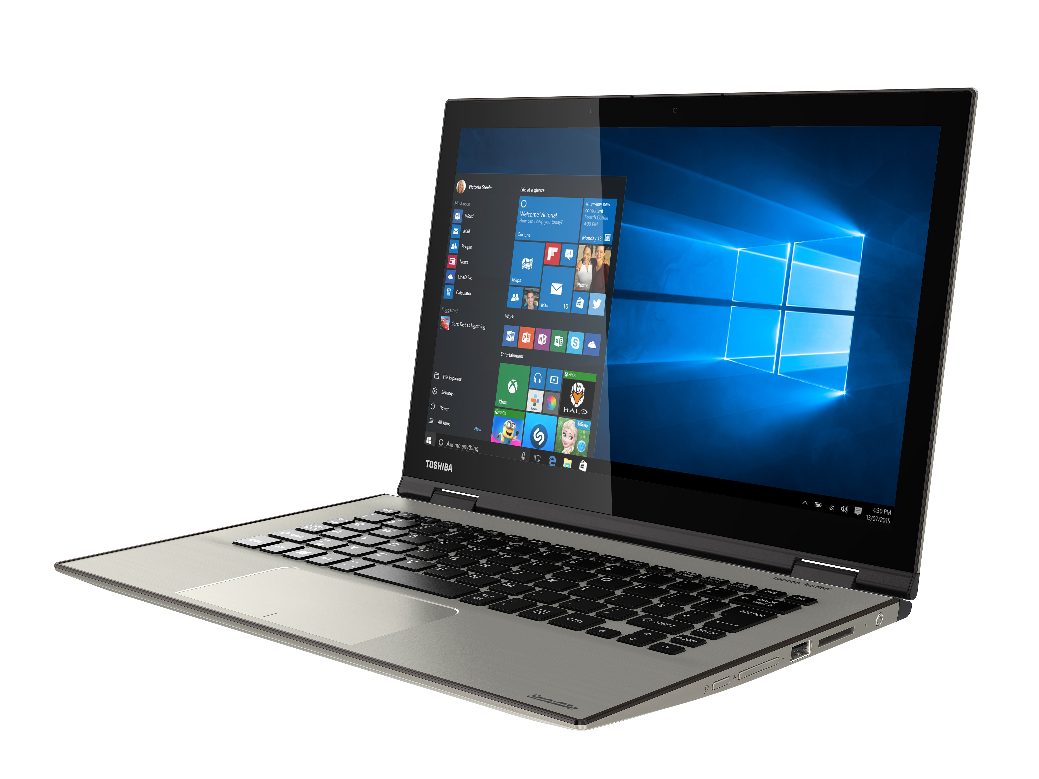 Laptops like the Toshiba Satellite Radius 12 could benefit from a 3.5mm digital-analogue audio output jack for an audio connection