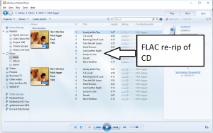 FLAC re-rip of CD