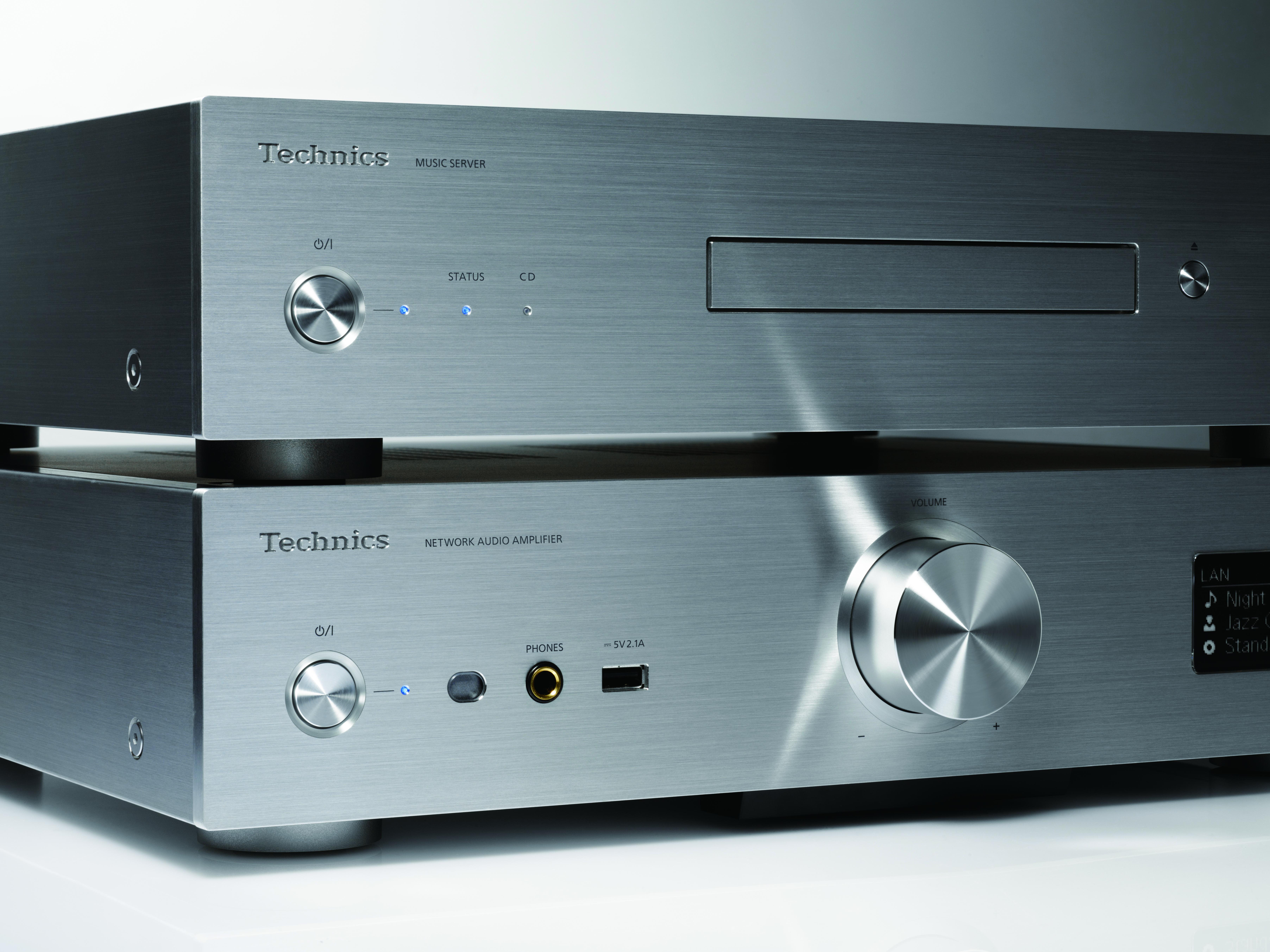 Technics Grand Class G30 hi-fi system with media server press image courtesy of Panasonic