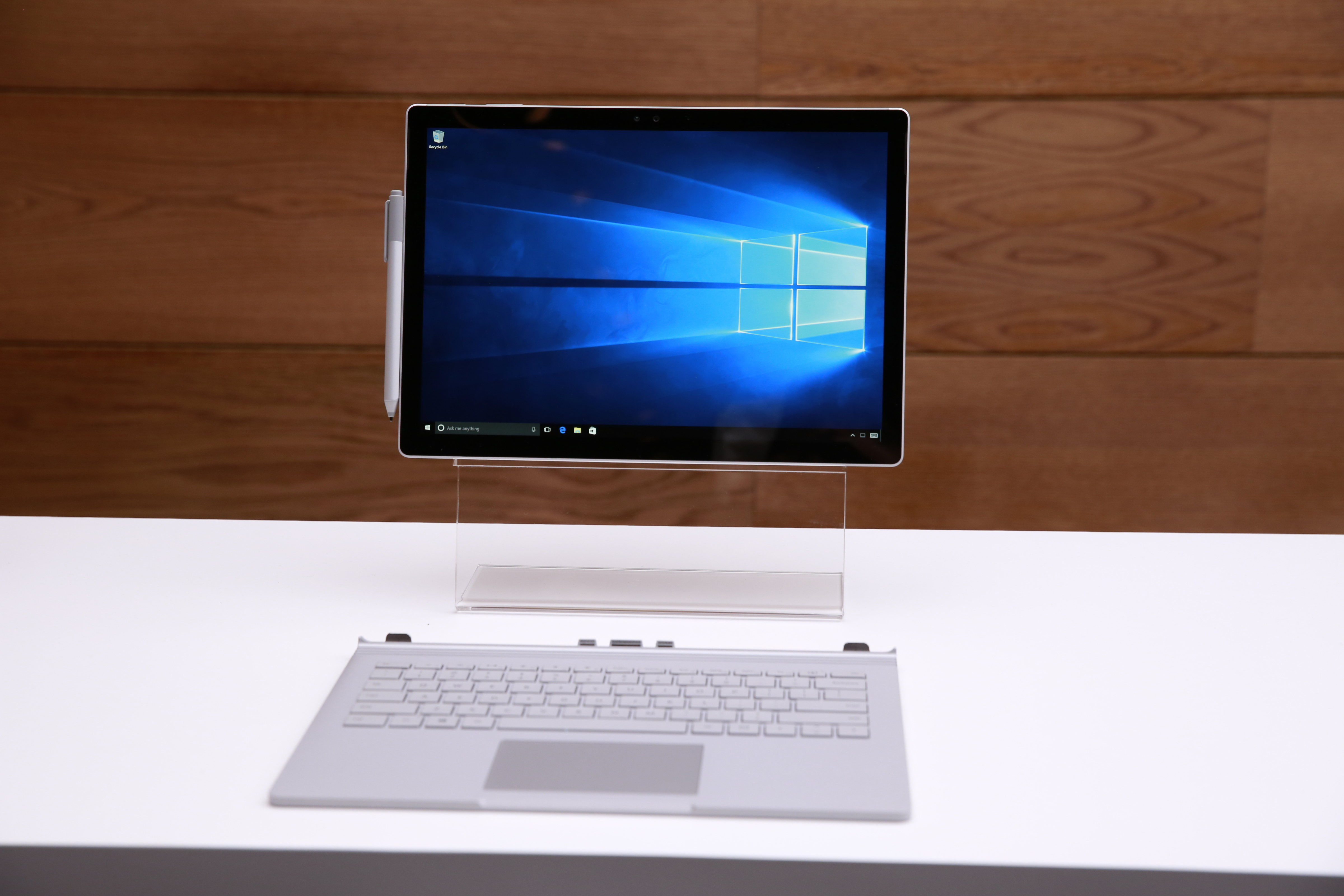 Microsoft Surface Book shown at Windows 10 Devices Event, on Tuesday, October 6, 2015 in New York, New York. (Mark Von Holden/AP Images for AP Images for Windows) courtesy of Microsoft