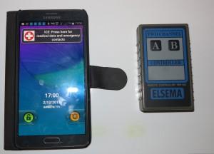 Smartphone and garage door transmitter