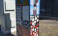 Painted street cabinet