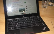 Lenovo ThinkPad Helix 2 connected to Wi-Fi hotspot at Bean Counter Cafe