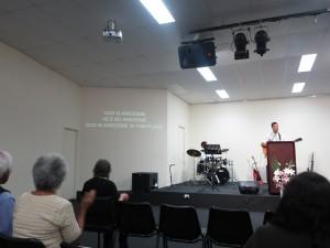 Praise and worship at church