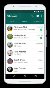 WhatsApp Android screenshot courtesy of WhatsApp