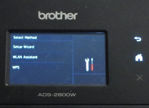 Brother ADS-2800W network document scanner Wi-Fi connectivity