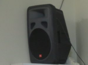JBL EON active PA speaker - this can work with the Auralic and Technics network media player / control amplifiers