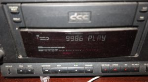 VU meters on Philips DCC-900 in play mode