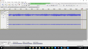 Audacity audio-editor software recording