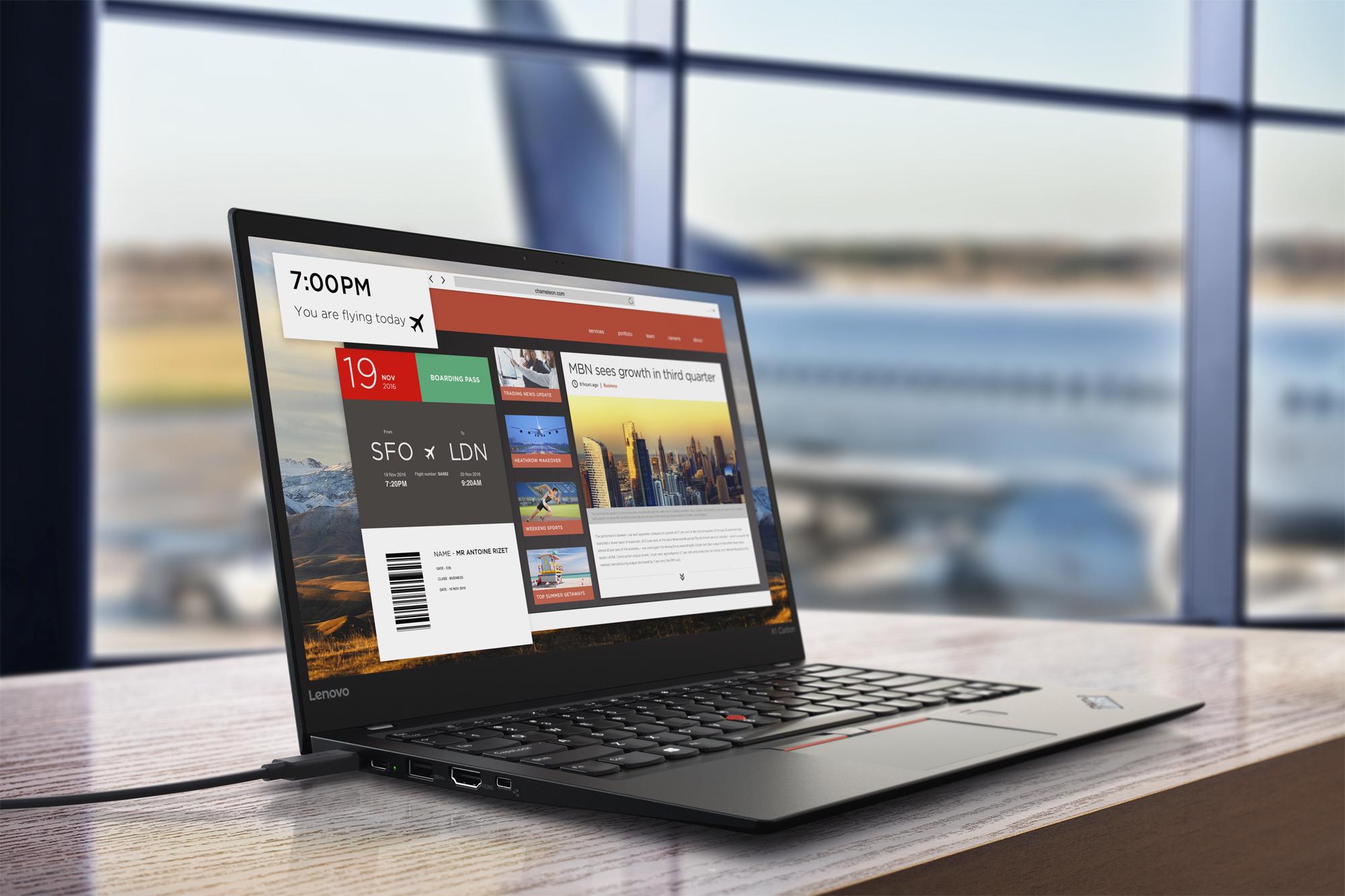 Lenovo ThinkPad X1 Carbon press image courtesy of Lenovo