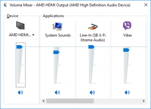 Volume Mixer in Windows 10, similar to other Windows versions