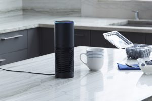Amazon Echo on kitchen bench press photo courtesy of Amazon USA