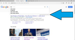 Autocomplete list in Google Search Web user interface