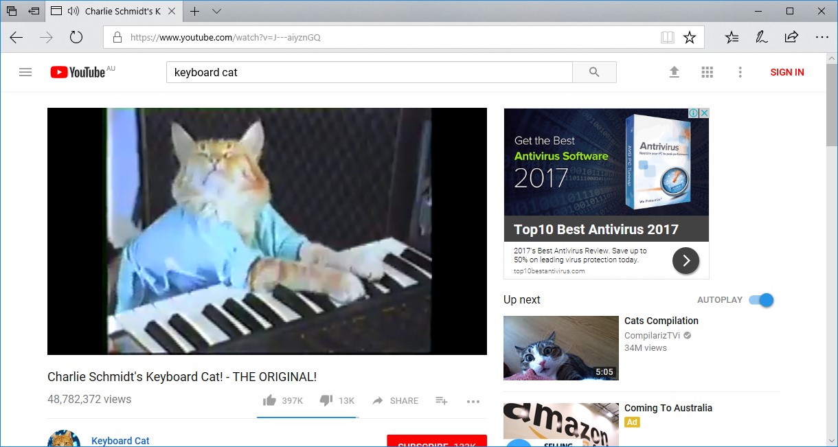 YouTube Keyboard Cat