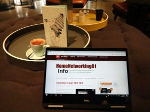 Dell Inspiron 13 7000 2-in-1 Intel 8th Generation CPU at QT Melbourne hotel - presentation mode
