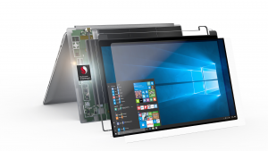 Snapdragon smartphone electronics in 2-in-1 laptop press picture courtesy of Qualcomn