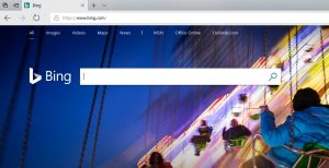 Microsoft Bing Search screenshot