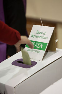 Australian House of Representatives ballot box - press picture courtesy of Australian Electoral Commission