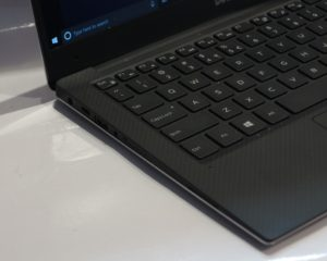 Dell XPS 13 9360 8th Generation Ultrabook - left side ports - Thunderbolt 3 over USB Type C port, USB Type A port, audio jack