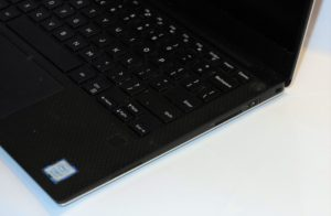 Dell XPS 13 9360 8th Generation Ultrabook - right side ports (USB Type A port and SD card reader)
