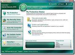 Kaspersky - dashboard