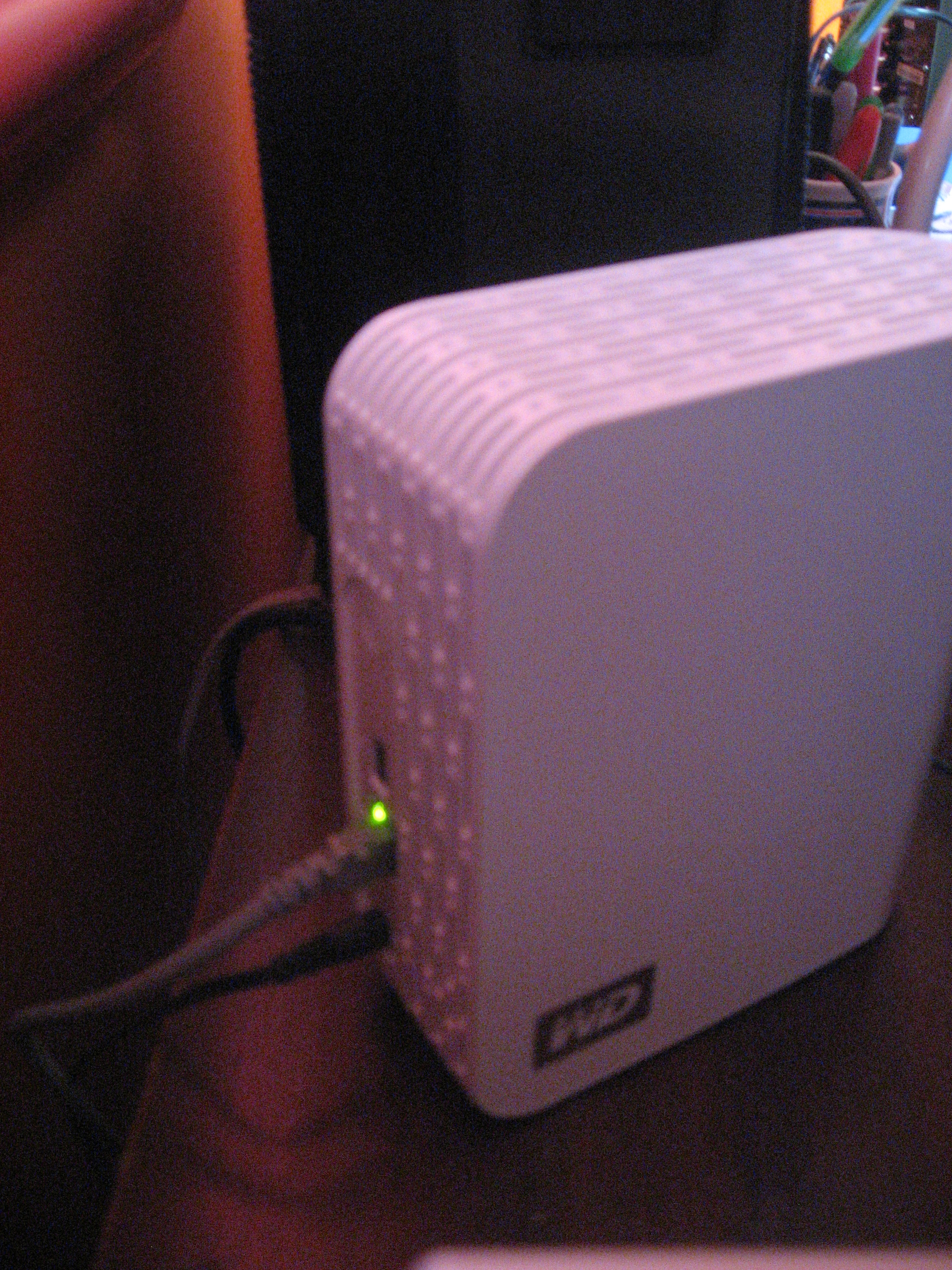 Ethernet connection to the NAS