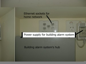 Tight central location layout for Ethernet switch