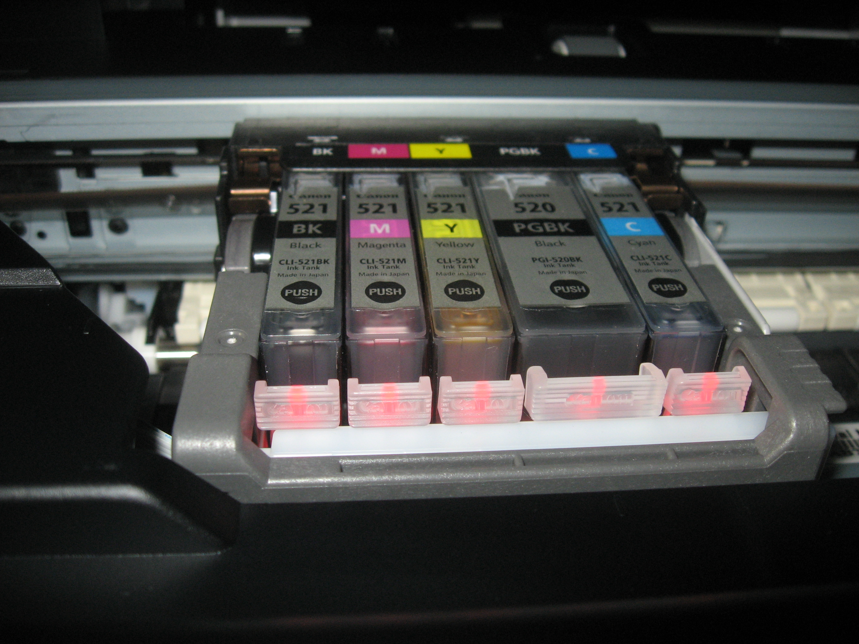 5 Separate ink cartridges