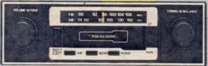Realistic car stereo radio-cassette (12-1892) - 1981 catalog shot - RadioShackCatalogs.com