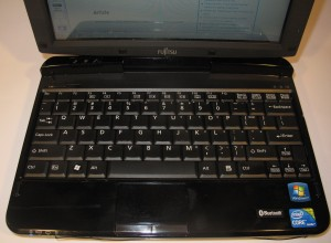 Fujitsu Lifebook TH550M convertible notebook keyboard detail