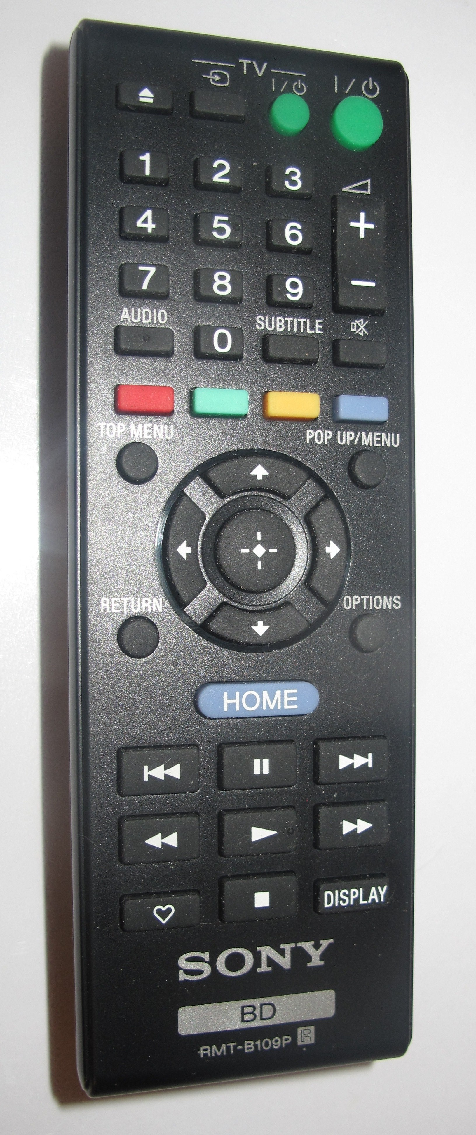 Sony BDP-S380 Network Blu-Ray Player remote control
