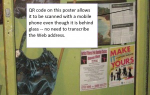QR Code used on a poster