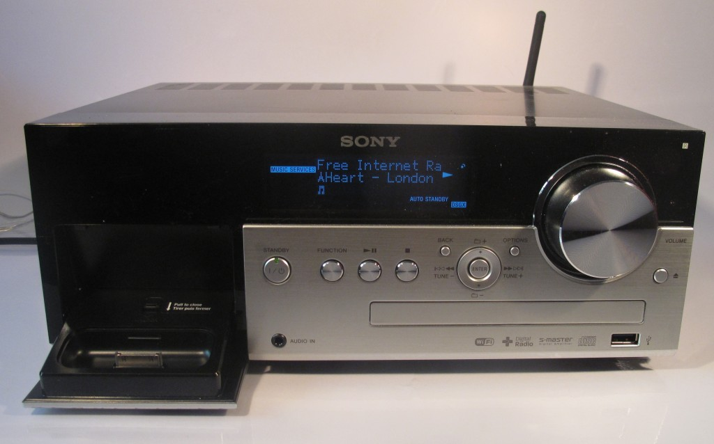 Sony CMT-MX750Ni Internet-enabled music system main unit