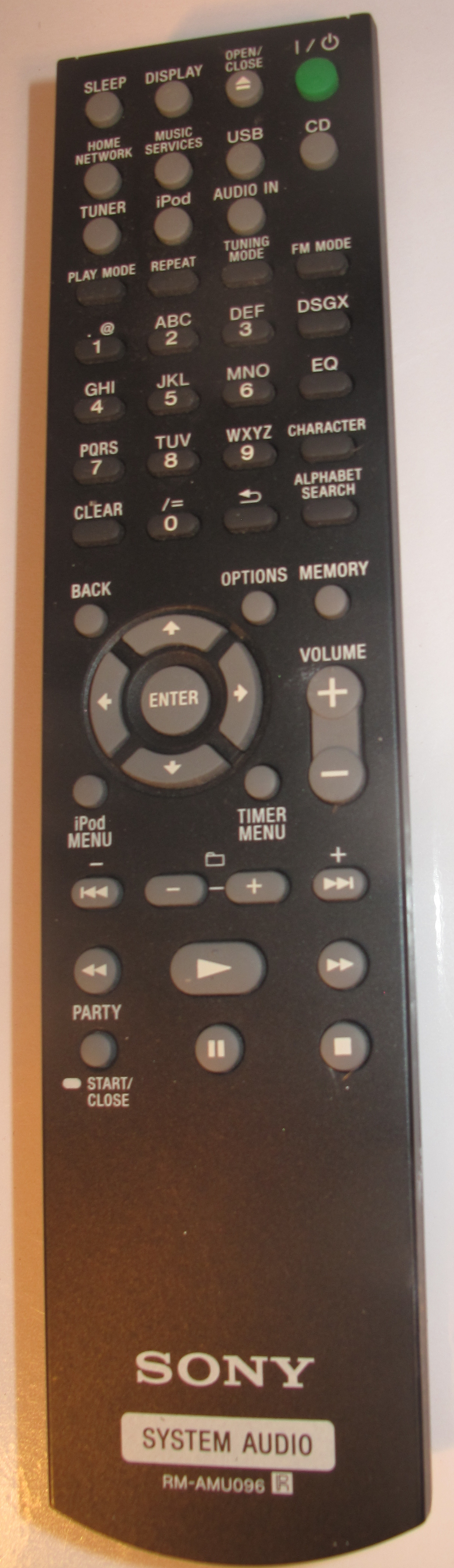 Sony CMT-MX750Ni Internet-enabled music system remote control