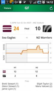 League Now NRL scoreboard app