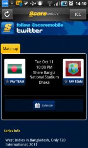 ScoreMobile scoreboard app