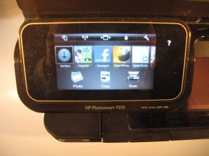 HP Photosmart 7510 control panel