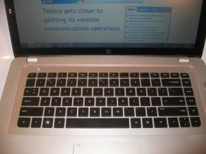 HP Envy 15-3000 Series keyboard detail