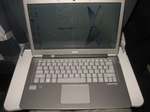 Acer Aspire S3 Ultrabook on tray table