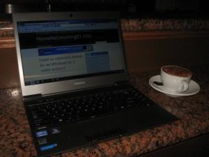 Toshiba Z830 Ultrabook in cafe