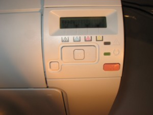 HP LaserJet Pro 400 Series control panel