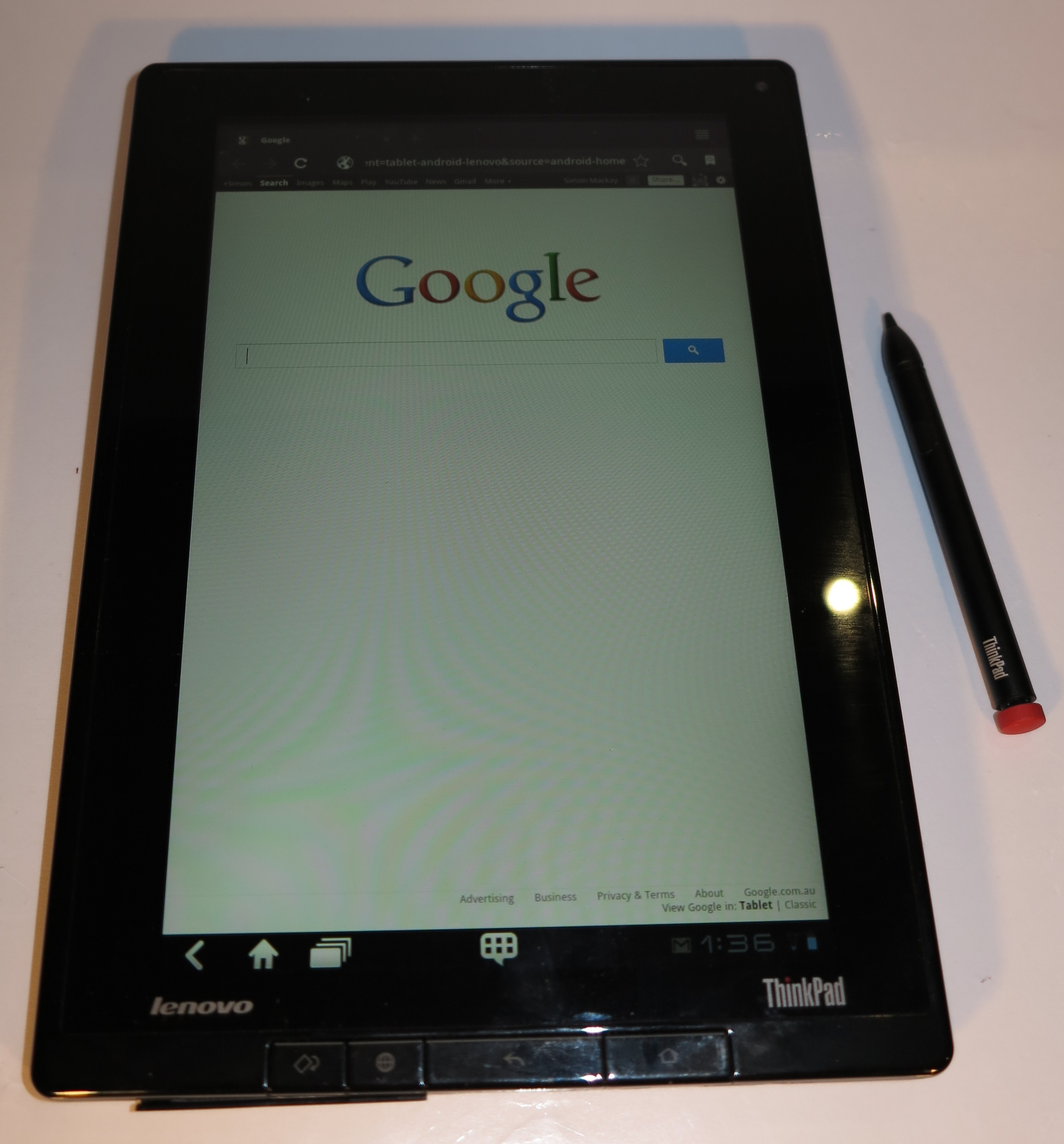 Lenovo ThinkPad Tablet with stylus